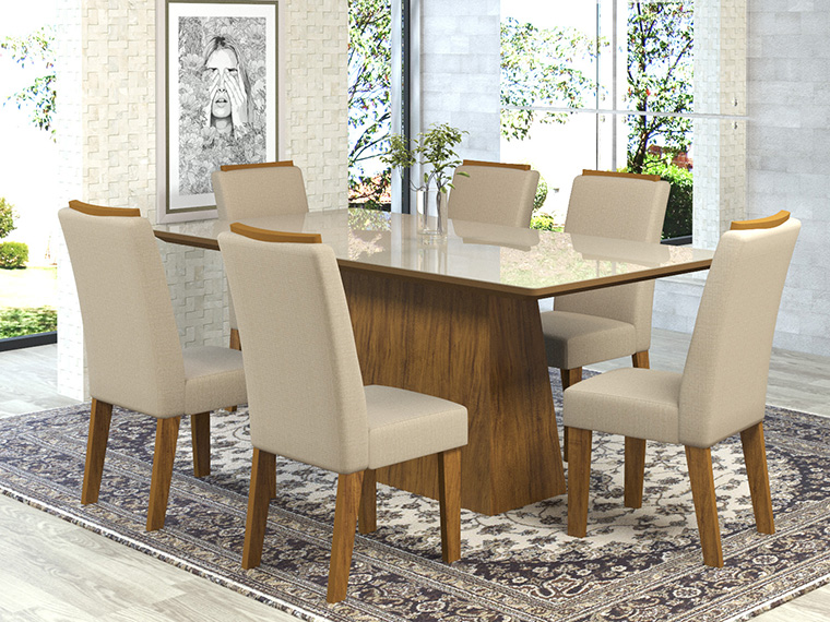 Viero Móveis apresentará nova mesa para sala de jantar no Espaço Móbile Lojista